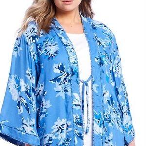 Allison Daley Kimono Indigo Orchid One Size NWT